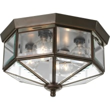 Outdoor ceiling lighting at lightingdirect exterior lights 4 light flush mount outdoor ceiling fixture with beveled glass panels 11 wide aloadofball Gallery