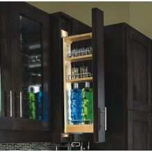 432 Series 3 Inch Wide By 33 Inch High Upper Cabinet Pull Out Filler  Organizer