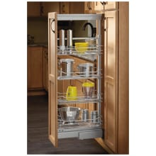 5700 Series 10 Inch By 44 Inch Tall Two Tier Pull Out Pantry Cabinet  Organizer With