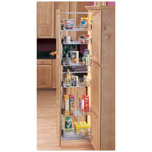 5700 Series 10 Inch By 58 Inch Tall Two Tier Pull Out Pantry Cabinet  Organizer With