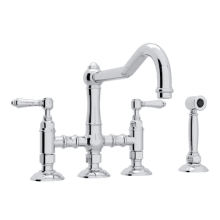 Country Kitchen Bridge Faucet   Includes Side Spray