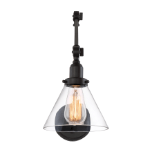 """Drake Single Light 17"""" High Wall Sconce with Clear Glass Shade"""
