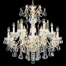 Schonbek chaneliers lightingdirect century 12 light 30 wide crystal chandelier with swarovski heritage crystals schonbek 1712 aloadofball Images