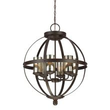 Mercury glass lighting huge selection great prices sfera 6 light chandelier with mercury glass shades aloadofball Images