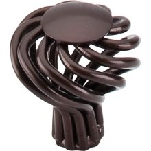 Rounded 1 1/4 Inch Diameter Birdcage Cabinet Knob From The Normandy Series