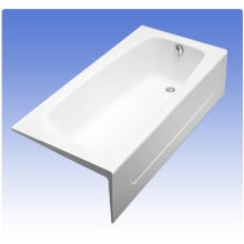 Commercial 65 3 4 Cast Iron Soaking Bathtub For Three Wall Alcove Installations Toto Fby1715rp
