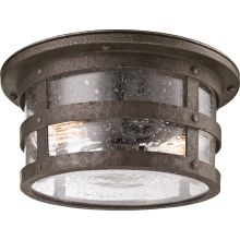 Barbosa 2 Light Flush Mount Outdoor Ceiling Fixture