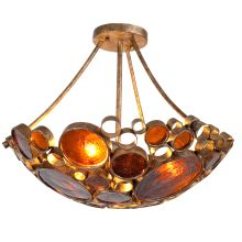 Semi flush lights and flush mount lights all close to ceiling lights fascination 3 light hand forged recycled steel semi flush mount ceiling fixture aloadofball Image collections