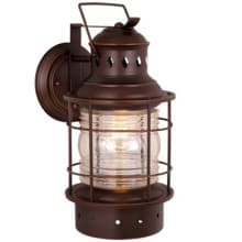 Rustic outdoor lighting free shipping lightingdirect hyannis 1 light outdoor wall sconce 675 inches wide aloadofball Gallery