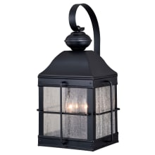 """Revere 3 Light 19"""" Tall Outdoor Wall Sconce with Glass Panel Shades"""