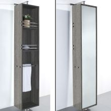 79 1 2 Rotating Wall Cabinet With Mirrored Side From The April Collection Wyndham Wcv202
