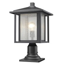 Outdoor Pier Lights Pier mount lights lightingdirect outdoor pier mount and aspen single light 18 tall outdoor pier mount light with seedy glass shade workwithnaturefo