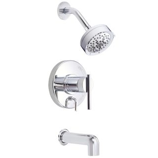 Danze D512058T Chrome Pressure Balanced Tub and Shower Trim Package with Multi Function Shower Head From the Parma Collection - Chrome Finish