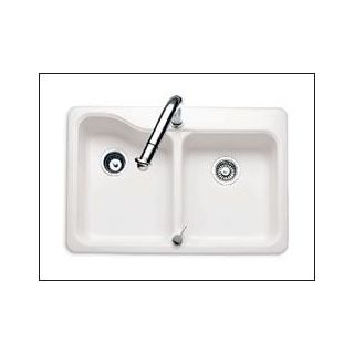 American Standard 7163 202 345 Bisque Double Basin Americast