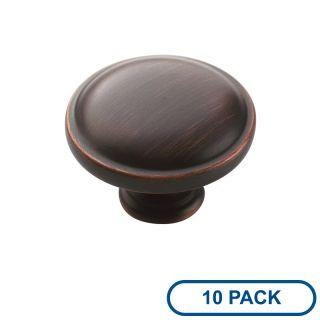 Oil Rubbed Bronze Knob 1 1//4 inch dia QTY 10
