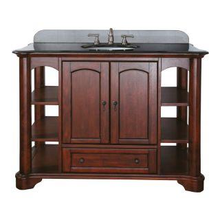 Avanity vermont v48 ma mahogany vermont 48 floor standing for Bathroom vanities massachusetts