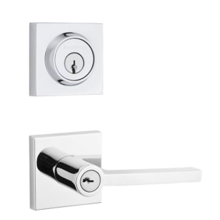 Baldwin Sccsdxensqucsr260 Polished Chrome Square Single Cylinder Keyed Entry Door Lever Set And Deadbolt Combo From The Reserve Collection Handlesets Com