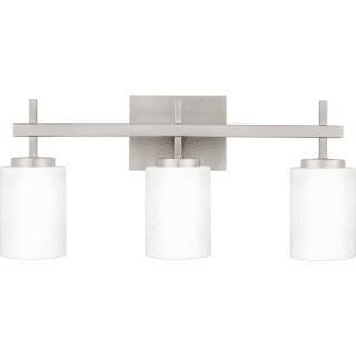 Bellevue Mv28858c Brushed Nickel 3 Light 22 Wide Integrated Led Bathroom Vanity Light Lightingdirect Com