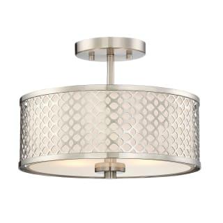 Bellevue Sh60016bn Brushed Nickel 2 Light 13 Wide Semi Flush Drum Ceiling Fixture Lightingdirect Com