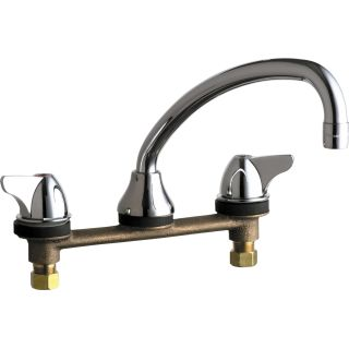 commercial grade kitchen faucets chicago faucets 1888 abcp chrome grade low arch 16777