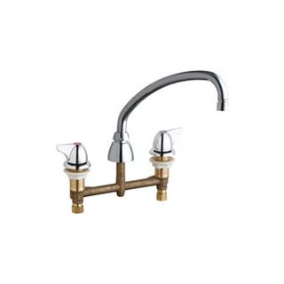 Chicago Faucets 201 L9e35v1000ab Chrome Commercial Grade Low Arch Kitchen Faucet With Wing