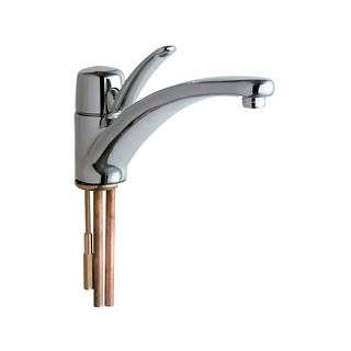 Chicago faucets 2300 e34abcp chrome commercial grade for Eco friendly faucets