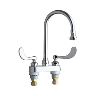 commercial grade kitchen faucets chicago faucets 895 317gn2be4abcp chrome grade 16777