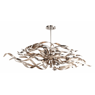 Corbett Lighting 154 56 Silver Leaf And Polished Stainless