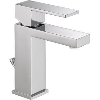 Delta 567lf pp chrome angular modern single hole bathroom - Delta contemporary bathroom faucets ...