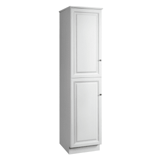 Design House 539700 White Semi Gloss Double Door Linen Tower Cabinet