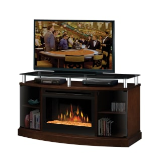 Dimplex Windham Media Console with Electric Glass Ember Fireplace ...