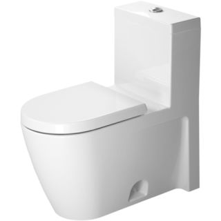 duravit 2133010005 white starck 2 toilet gpf one piece toilet less seat. Black Bedroom Furniture Sets. Home Design Ideas