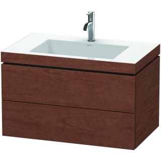 Duravit Lc6927o1313 American Walnut L Cube 32 Wall Mounted Single Basin Vanity Set With Wood Cabinet And Ceramic Vanity Top Faucet Com
