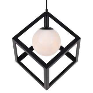 Elegant Lighting Ld2413bk Black Linea 16 Wide Pendant Faucetdirect Com