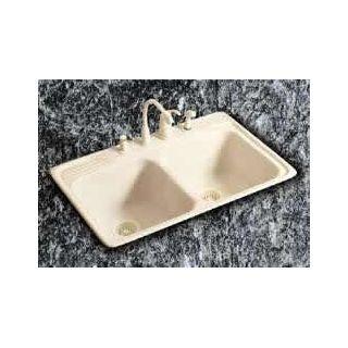 Elkay Undefined Almond Fixture Kitchen Sink Corian From