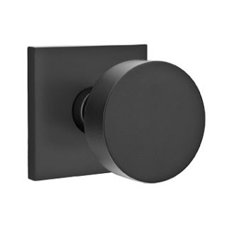 Emtek 510rouus19 Flat Black Round Passage Door Knob Set