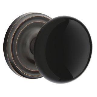 Emtek 810ebus10b Oil Rubbed Bronze Ebony Porcelain Passage