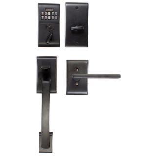 emtek e4017us19 flat black single cylinder electronic. Black Bedroom Furniture Sets. Home Design Ideas