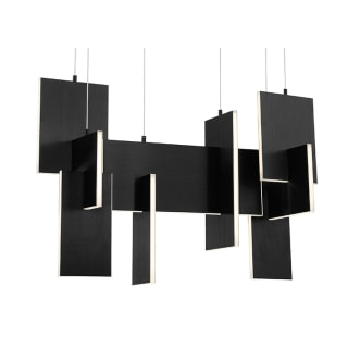 Eurofase Lighting 37345 025 Black Coburg 33 Wide Led Linear Chandelier Faucetdirect Com