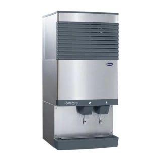 27 Inch Wide 90 lb. Capacity Countertop Commercial Ice Maker and Water ...