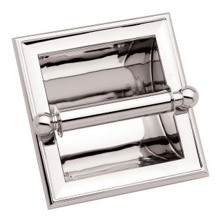 Ginger 4528 Pc Polished Chrome Single Post Recessed Toilet