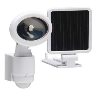 heath zenith hz 8434 wh a white led motion activated solar. Black Bedroom Furniture Sets. Home Design Ideas
