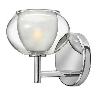 Hinkley lighting 50200cm chrome 1 light 6 width bathroom for Hinkley bathroom sconces
