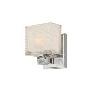 Wavy Glass Vanity Light : Hudson Valley Lighting 4661-SN Satin Nickel Single Light Up Lighting Bath Vanity with Wavy Glass ...