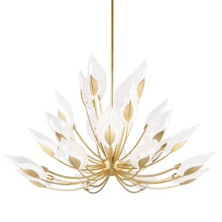 Hudson Valley Lighting 4856 Gl Gold Leaf Blossom 28 Light Chandelier Faucetdirect Com