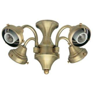 Hunter 28124 Antique Brass 4 Light Fitter Light Kit Lightingdirect Com