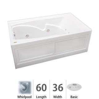 Jacuzzi Cts6036wlr2hxw White 60 Quot X 36 Quot Cetra 174 Three Wall