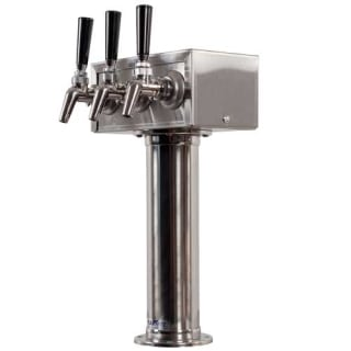 stainless steel triple faucet tower w perlick 630ss faucets
