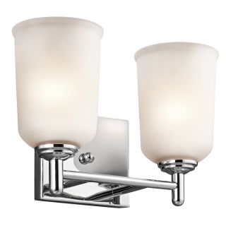 Vanity Lights Cyber Monday : Kichler 45573CH Chrome Shailene 12.5