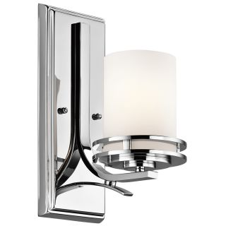 Kichler 5076OZ Hendrik Single Light 12 Tall Wall Sconce with Satin Etched Glass